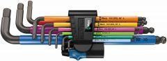 950/9 Hex-Plus Multicolour HF 1 Winkelschlüsselsatz,metrisch,BlackLaser,mit Haltefunktion