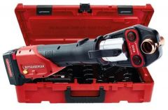 ROMAX 4000 Pressmachine 18 Volt 4.0 Ah Li-ion + Pressbacken-Set M 15-22-28 mm