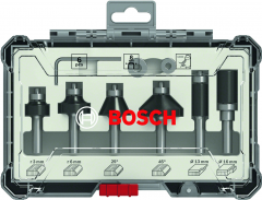 6-teiliges Rand- und Kantenfräser-Set, 6-mm-Schaft 6-piece Trim and Edging Router Bit Set.
