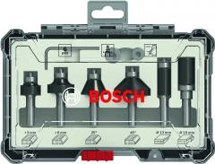 6-teiliges Rand- und Kantenfräser-Set, 8-mm-Schaft 6-piece Trim and Edging Router Bit Set.