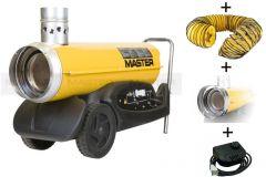 BV77E Set Indirekte Ölheizer 21kW + 3 mtr. Schlauch + Adapter + Thermostat