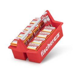 552947 MobiBox gefüllt mit Nageldübel und Bohrer