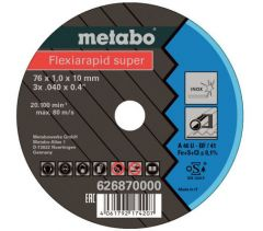 626870000 5 Flexiarapid Super Trennscheibe 76 x 10 mm Inox