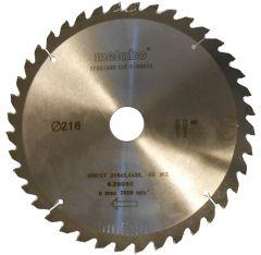 Kreissägeblatt HW/CT 216x30, 40 WZ 5°neg.,classic