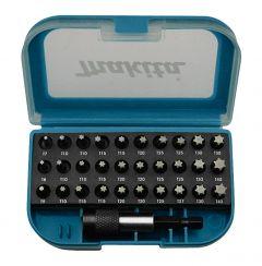 31-teilig Bitset Torx im Kunststoffbox mit Gürtelclip P-73352