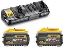 DCB132X2-QW FlexVolt-Starterkit - 2 x FlexVolt Akku 54V 9,0Ah Li-Ion + DCB132 Doppel-schnellladegerät
