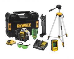 DCE089D1GTRID-QW Multilinienlaser grüne Strahl 10.8V 2.0Ah XR Li-Ion + DE0881 Stativ + DE0892 Detektor
