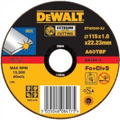 DT42341-XJ Trennscheibe für INOX/Edelstahl 125 x 22,2 x 1,6 mm
