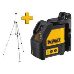 DW088KTRI selbstnivellierender Kreuzlinien-Laser Horizontal und vertikal 2 Linien + DE0881 Stativ