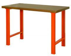 RobusteWerkbank mit MDF-Arbeitsplatte und 4Beinen, orange, 1500mm×750mm×1030mm 1495WB15TD