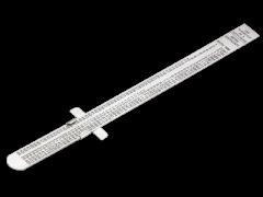 Flexibles Edelstahl-Lineal, metrisch und zöllig, 160mm 1179-FLX
