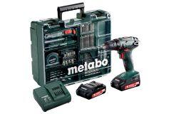Metabo 602207880 BS 18 Set Akku Bohrschrauber 18 Volt 2.0 Ah Li-ion