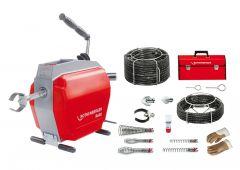 R600 Rohrreinigungsmaschine mit Spiralen-/Werkzeugset 16-22 mm
