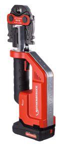 ROMAX Compact TT Pressmachine 18 Volt 2.0 Ah Li-ion + Pressbacken-Set SV15-22-28