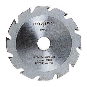 Nutenfräsblatt ellipsenförmig, Hartmetall, 120 x 3,6 x 20 mm, 12 Zähne