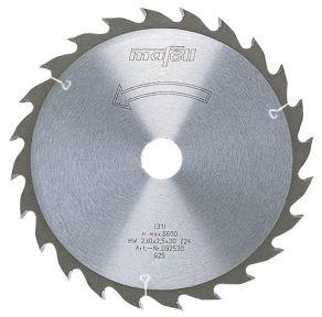 Sägeblatt-HM 160 x 1,2/1,8 x 20 mm, Z 56, FZ/TZ, für Feinschnitte in Holz