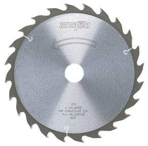 Sägeblatt-HM 120 x 1,2/1,8 x 20 mm, Z 40, FZ/TR, für Feinschnitte in Holz