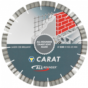 """CEB2303015 DiamanttrennscheibeLASER UNIVERSAL BRILLIANT, TYP """"ALLROUNDER"""" 230x22,2MM"""