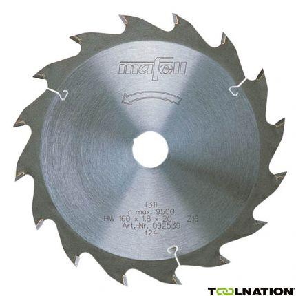 Mafell Sägeblatt-HM, 160 x 1,8/2,8 x 20 mm, Z 16, WZ