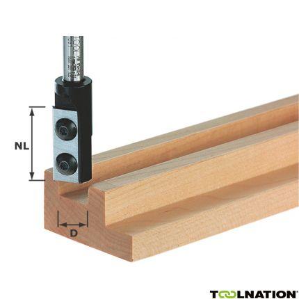 Nutfräser-Wendeplatten HW S8 D8/20 WP Z1 491078
