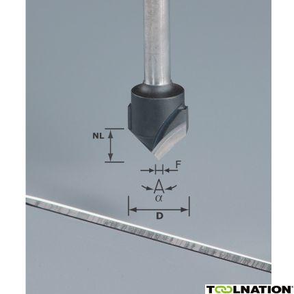 V-Nutfräser HW S8 D18-90°/Alu 491444