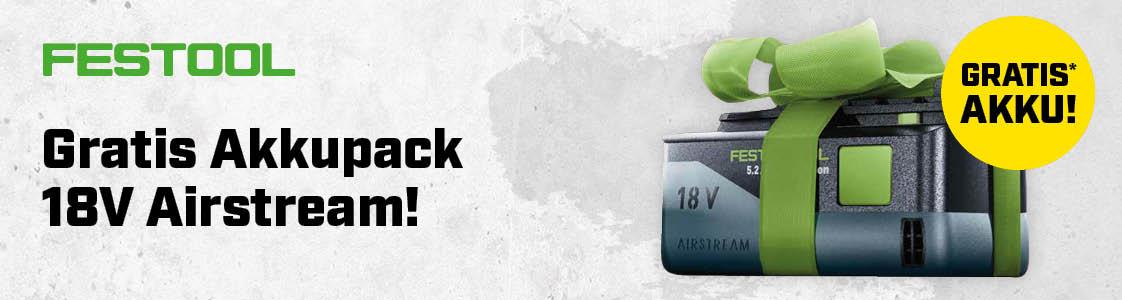 Festool gratis Akkupack